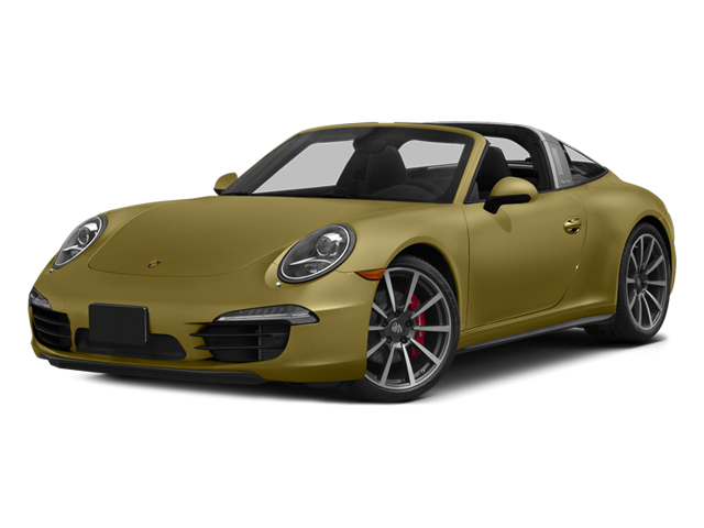 Lime Gold Metallic 2014 Porsche 911 Pictures 911 Coupe 2D 4S Targa AWD photos front view