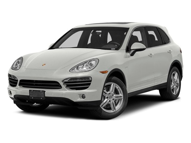 White 2014 Porsche Cayenne Pictures Cayenne Utility 4D S AWD Hybrid V6 photos front view