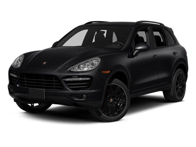 Black 2014 Porsche Cayenne Pictures Cayenne Utility 4D AWD V8 Turbo photos front view