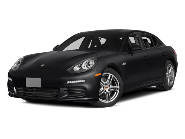 Black 2014 Porsche Panamera Pictures Panamera Hatchback 4D S AWD V8 Turbo photos front view