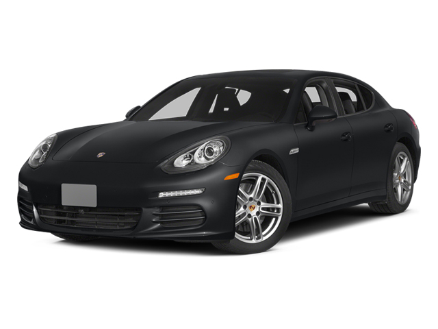 Basalt Black Metallic 2014 Porsche Panamera Pictures Panamera Hatchback 4D S AWD V8 Turbo photos front view