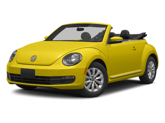 Yellow Rush/Black Roof 2014 Volkswagen Beetle Convertible Pictures Beetle Convertible Convertible 2D TDI I4 photos front view