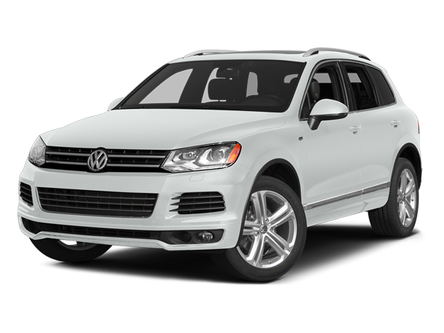 Pure White 2014 Volkswagen Touareg Pictures Touareg Util 4D TDI R-Line AWD V8 T-Diesel photos front view