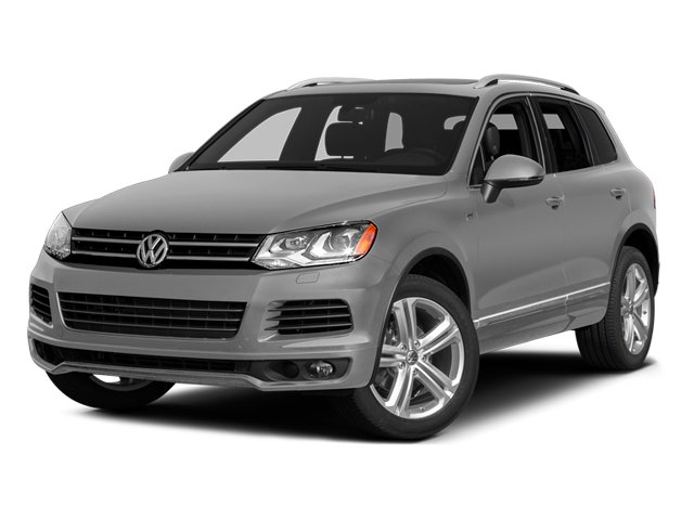 Cool Silver Metallic 2014 Volkswagen Touareg Pictures Touareg Util 4D TDI R-Line AWD V8 T-Diesel photos front view