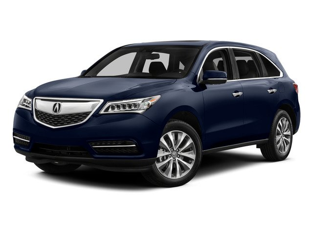 Fathom Blue Pearl 2015 Acura MDX Pictures MDX Utility 4D Technology DVD AWD V6 photos front view