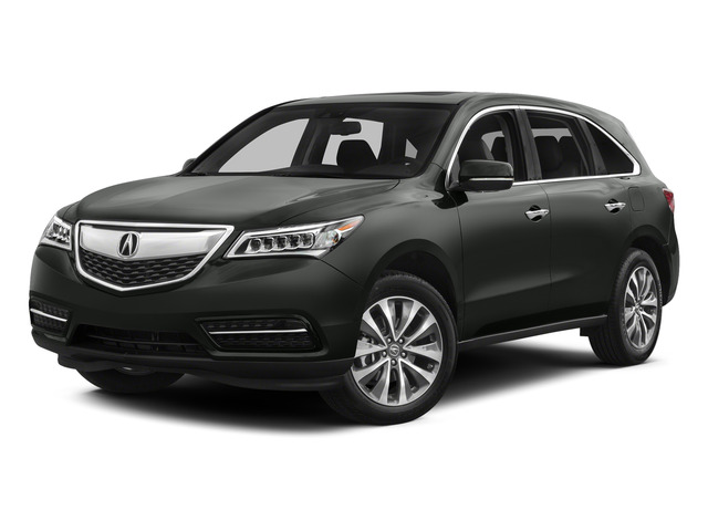 Graphite Luster Metallic 2015 Acura MDX Pictures MDX Utility 4D Technology DVD AWD V6 photos front view