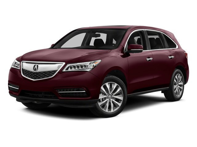 Dark Cherry Pearl 2015 Acura MDX Pictures MDX Utility 4D Technology DVD AWD V6 photos front view