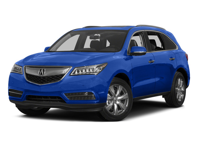 Fathom Blue Pearl 2015 Acura MDX Pictures MDX Utility 4D Advance DVD AWD V6 photos front view