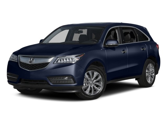Fathom Blue Pearl 2015 Acura MDX Pictures MDX Utility 4D Technology DVD 2WD V6 photos front view