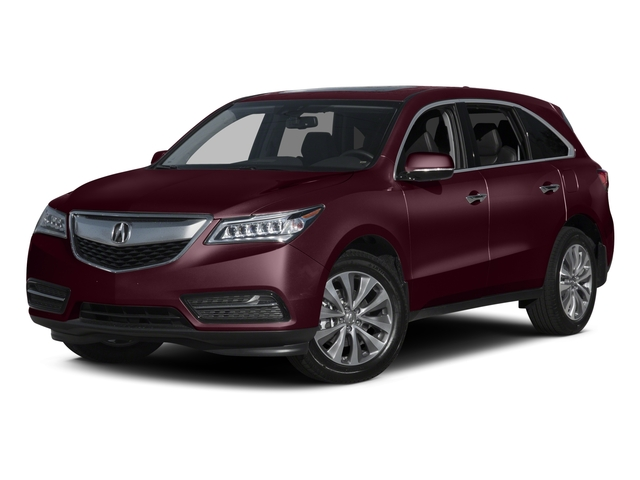 Dark Cherry Pearl 2015 Acura MDX Pictures MDX Utility 4D Technology DVD 2WD V6 photos front view