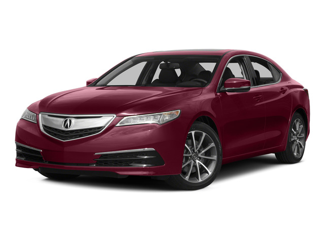 Basque Red Pearl II 2015 Acura TLX Pictures TLX Sedan 4D V6 photos front view