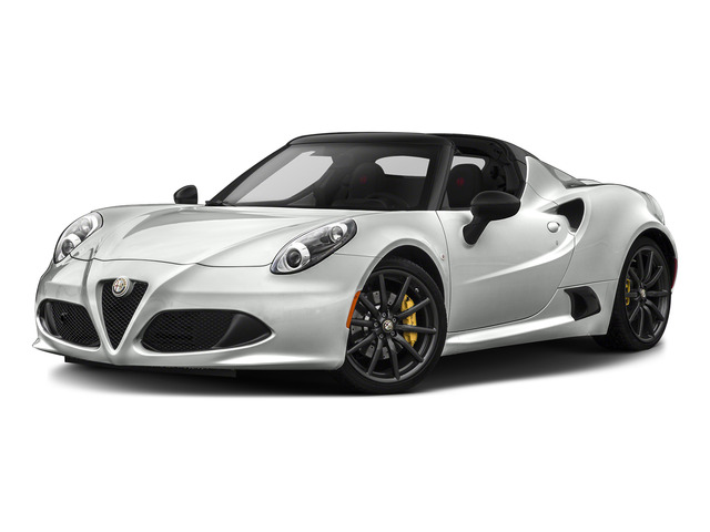 White 2015 Alfa Romeo 4C Pictures 4C Convertible 2D Spyder I4 Turbo photos front view