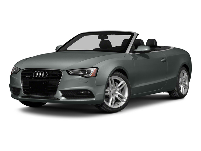 Monsoon Gray Metallic/Black Roof 2015 Audi A5 Pictures A5 Convertible 2D Premium Plus AWD photos front view