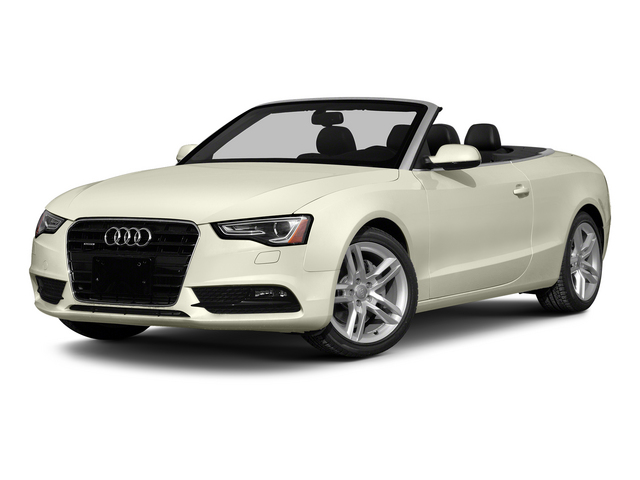 Glacier White Metallic/Black Roof 2015 Audi A5 Pictures A5 Convertible 2D Premium Plus AWD photos front view