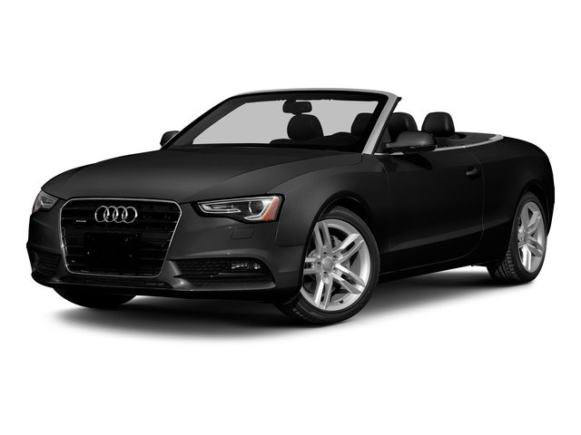 Brilliant Black/Black Roof 2015 Audi A5 Pictures A5 Convertible 2D Premium Plus AWD photos front view