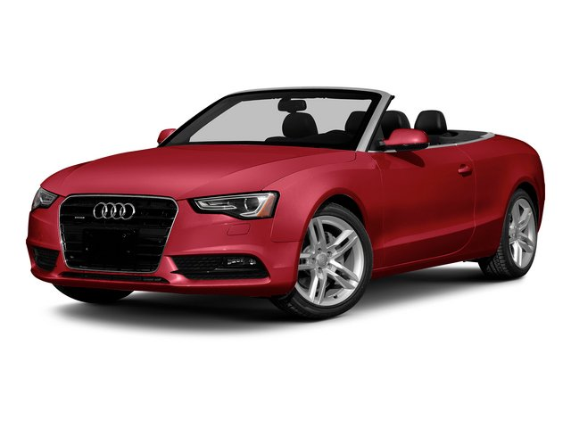Brilliant Red/Black Roof 2015 Audi A5 Pictures A5 Convertible 2D Premium Plus AWD photos front view