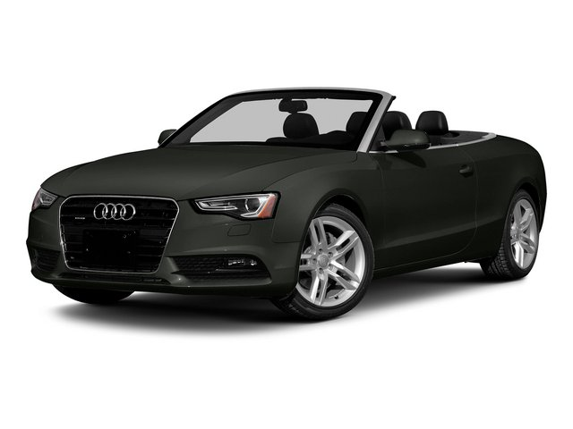 Tornado Gray Metallic/Black Roof 2015 Audi A5 Pictures A5 Convertible 2D Premium Plus AWD photos front view