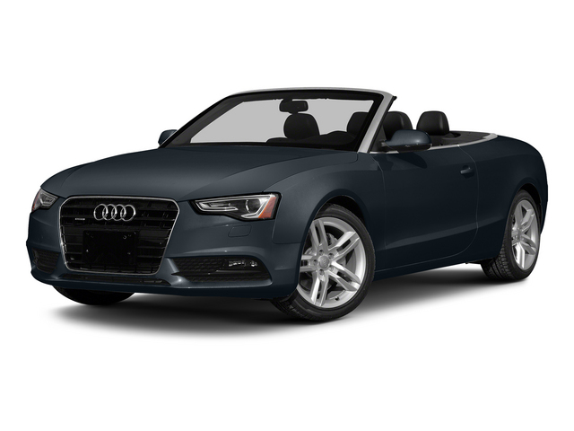 Moonlight Blue Metallic/Black Roof 2015 Audi A5 Pictures A5 Convertible 2D Premium Plus AWD photos front view
