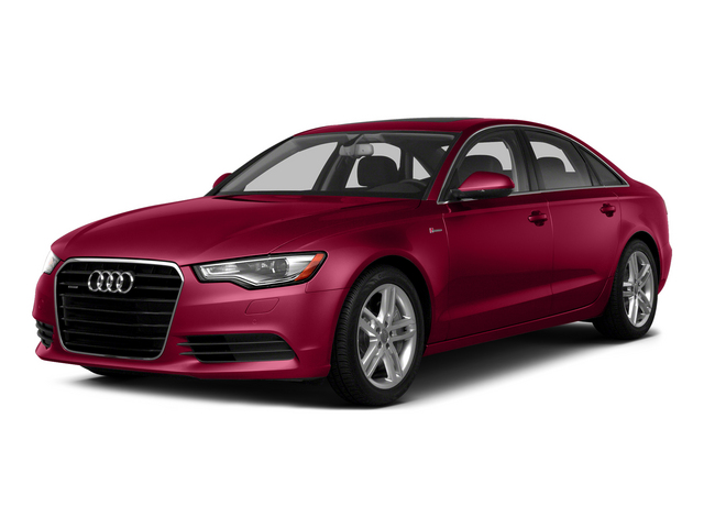 Garnet Red Pearl Effect 2015 Audi A6 Pictures A6 Sedan 4D TDI Prestige AWD photos front view