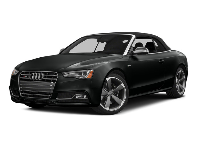 Mythos Black Metallic/Black Roof 2015 Audi S5 Pictures S5 Convertible 2D S5 Prestige AWD photos front view