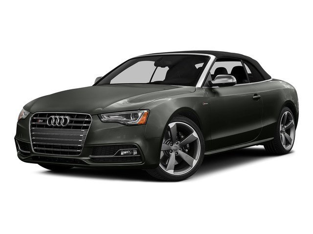 Daytona Gray Pearl Effect/Black Roof 2015 Audi S5 Pictures S5 Convertible 2D S5 Prestige AWD photos front view