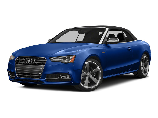 Sepang Blue Pearl Effect/Black Roof 2015 Audi S5 Pictures S5 Convertible 2D S5 Prestige AWD photos front view