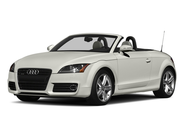 Ibis White/Black Roof 2015 Audi TT Pictures TT Roadster 2D AWD photos front view