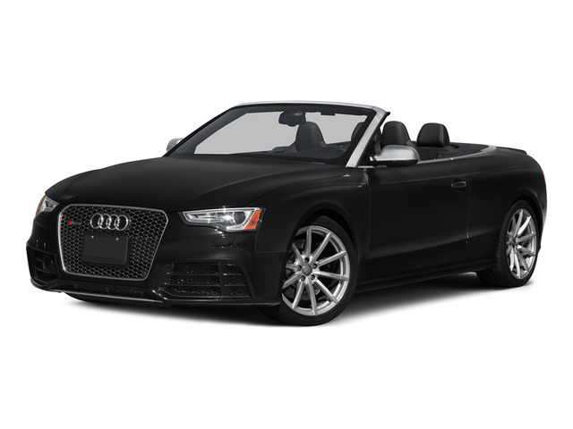 Mythos Black Metallic/Black Roof 2015 Audi RS 5 Pictures RS 5 Convertible 2D RS5 AWD V8 photos front view