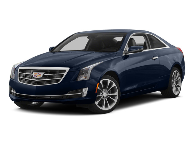 Dark Adriatic Blue Metallic 2015 Cadillac ATS Coupe Pictures ATS Coupe 2D Premium AWD V6 photos front view