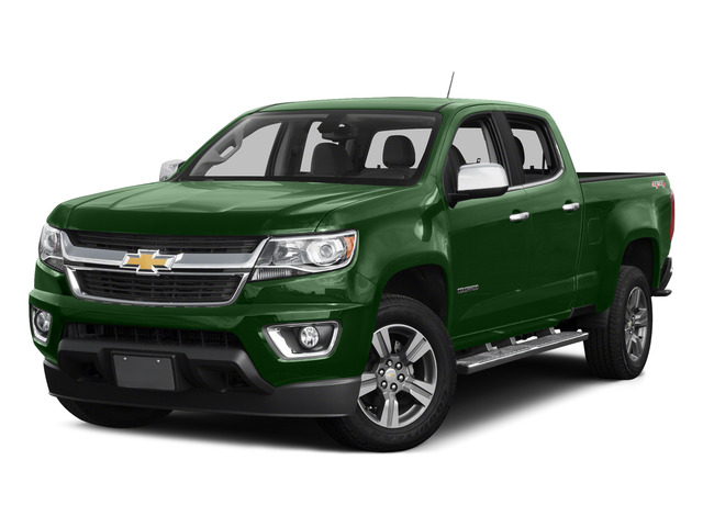 Rainforest Green Metallic 2015 Chevrolet Colorado Pictures Colorado Crew Cab Work Truck 2WD photos front view