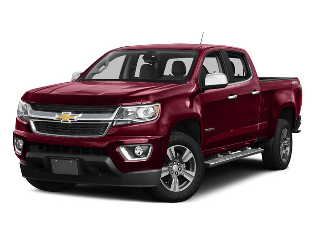 Red Rock Metallic 2015 Chevrolet Colorado Pictures Colorado Crew Cab Work Truck 2WD photos front view