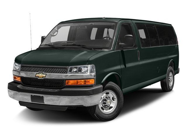 Rainforest Green Metallic 2015 Chevrolet Express Passenger Pictures Express Passenger Express Van LT 135 photos front view