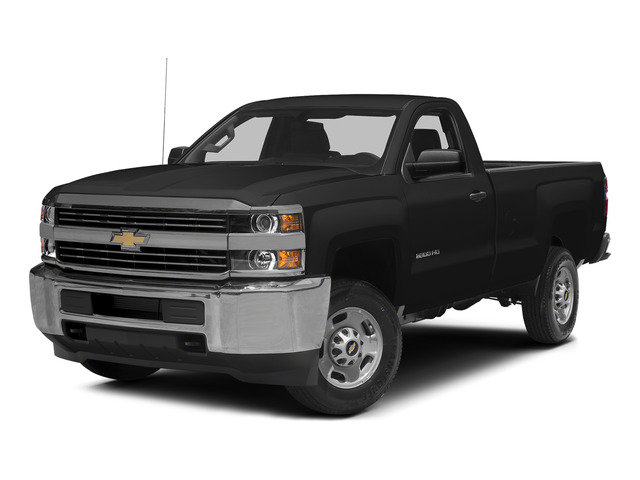 Black 2015 Chevrolet Silverado 2500HD Pictures Silverado 2500HD Regular Cab LT 2WD photos front view