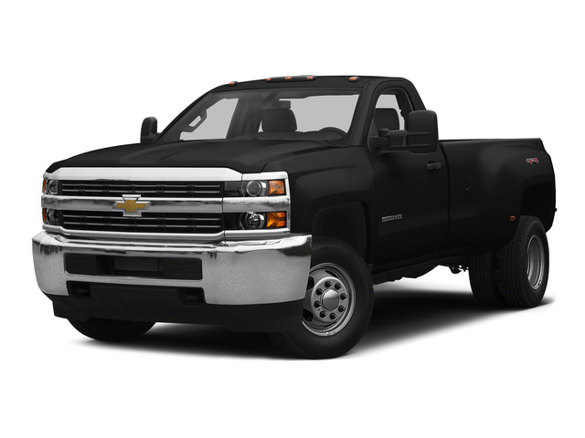 Black 2015 Chevrolet Silverado 3500HD Pictures Silverado 3500HD Regular Cab LT 4WD photos front view
