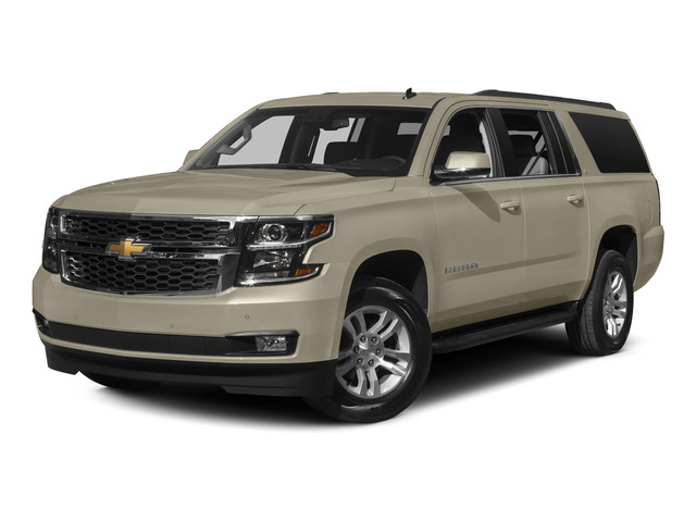 Champagne Silver Metallic 2015 Chevrolet Suburban Pictures Suburban Utility 4D LT 4WD V8 photos front view