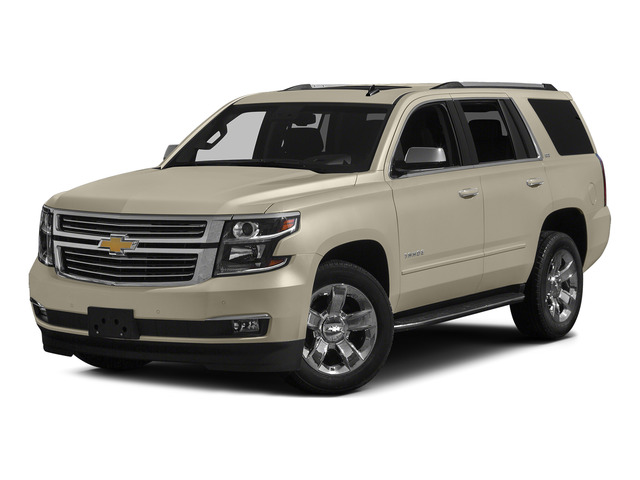 Champagne Silver Metallic 2015 Chevrolet Tahoe Pictures Tahoe Utility 4D LT 4WD V8 photos front view