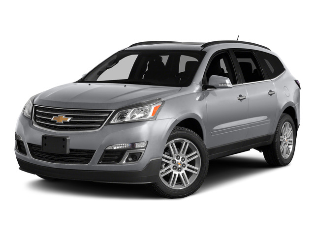 Silver Ice Metallic 2015 Chevrolet Traverse Pictures Traverse Utility 4D LS AWD V6 photos front view
