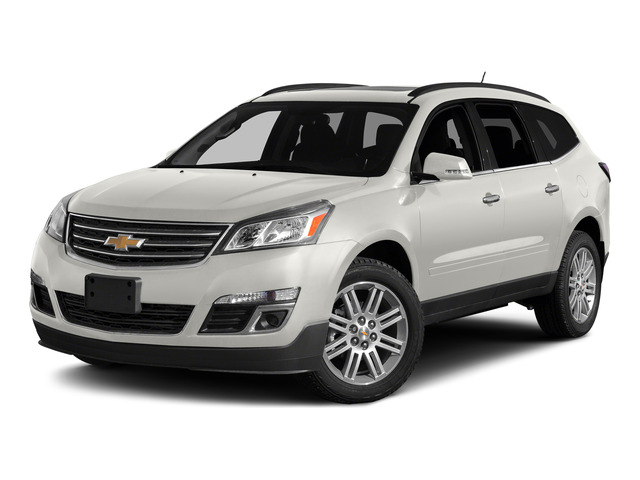 White 2015 Chevrolet Traverse Pictures Traverse Utility 4D LS AWD V6 photos front view