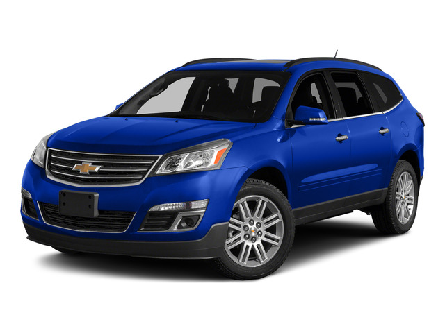 Blue Velvet Metallic 2015 Chevrolet Traverse Pictures Traverse Utility 4D LS AWD V6 photos front view