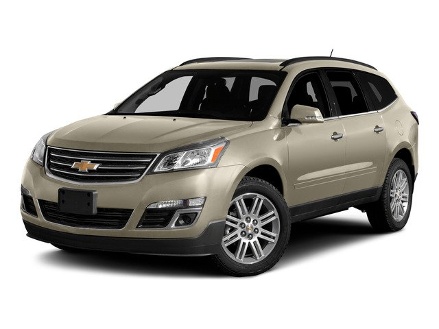 Champagne Silver Metallic 2015 Chevrolet Traverse Pictures Traverse Utility 4D 2LT AWD V6 photos front view