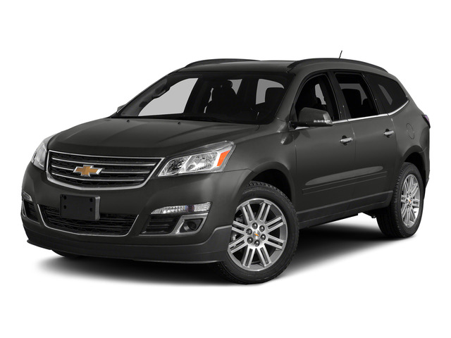 Tungsten Metallic 2015 Chevrolet Traverse Pictures Traverse Utility 4D LS AWD V6 photos front view