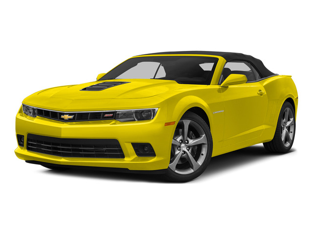 Bright Yellow 2015 Chevrolet Camaro Pictures Camaro Convertible 2D SS V8 photos front view