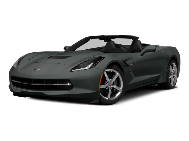 Shark Gray Metallic 2015 Chevrolet Corvette Pictures Corvette Convertible 2D Z51 2LT V8 photos front view