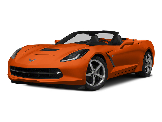 Daytona Sunrise Orange Metallic 2015 Chevrolet Corvette Pictures Corvette Convertible 2D Z51 2LT V8 photos front view