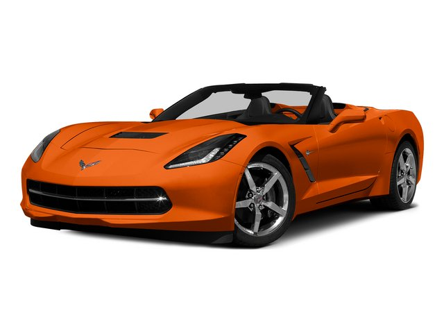 Daytona Sunrise Orange Metallic 2015 Chevrolet Corvette Pictures Corvette Convertible 2D Z51 3LT V8 photos front view