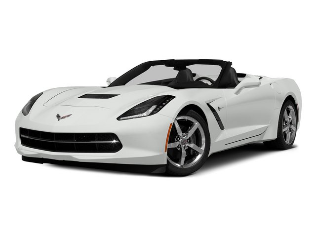 Arctic White 2015 Chevrolet Corvette Pictures Corvette Convertible 2D Z51 3LT V8 photos front view