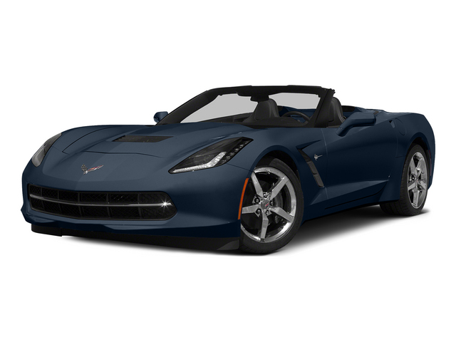 Night Race Blue Metallic 2015 Chevrolet Corvette Pictures Corvette Convertible 2D Z51 LT V8 photos front view