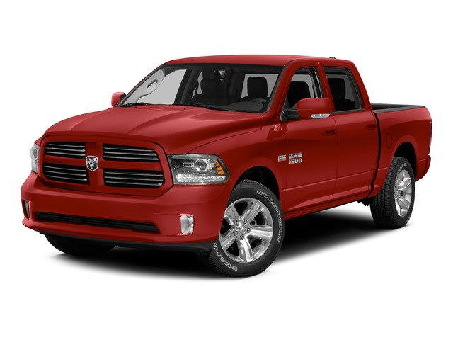 Bright Red 2015 Ram Truck 1500 Pictures 1500 Crew Cab SLT 4WD photos front view