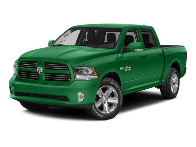 Bright Green 2015 Ram Truck 1500 Pictures 1500 Crew Cab Express 4WD photos front view