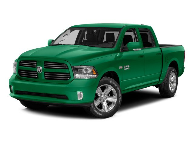 Bright Green 2015 Ram Truck 1500 Pictures 1500 Crew Cab SLT 4WD photos front view